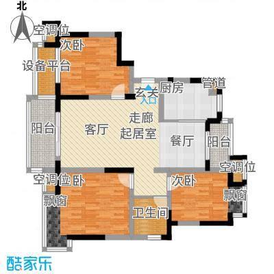 常熟老街常熟老街高层8期GC23,三室两厅一卫,106M2户型