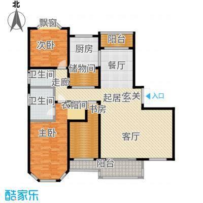 绅派金湖帝景188.00㎡三室两厅两卫户型