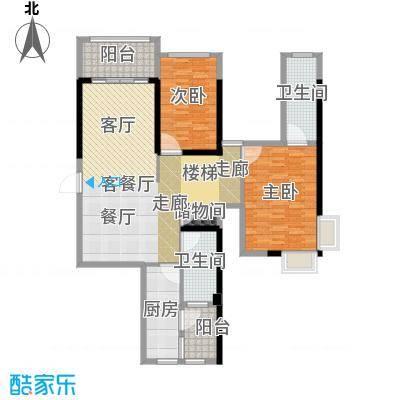御湖湾128.00㎡单片c-1奇户型3室2厅2卫