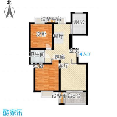 新天地荻泾花园90.00㎡二房二厅一卫-95平方米-58套户型
