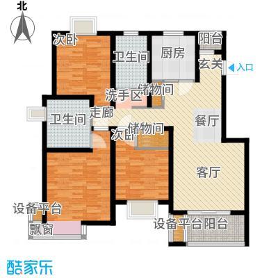 新天地荻泾花园120.00㎡三房二厅二卫-128平方米-35套户型