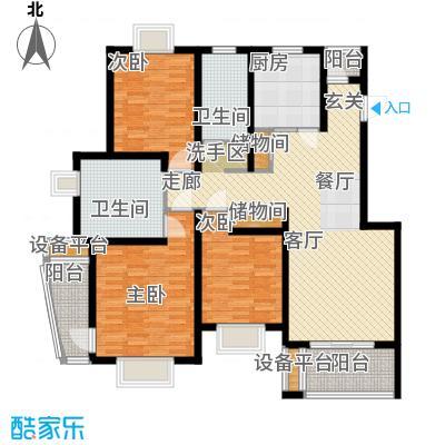新天地荻泾花园130.00㎡三房二厅二卫-133平方米-35套户型