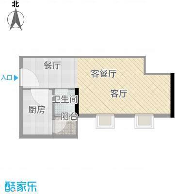 丰泽大厦-枫丹雅筑52.97㎡户型1厅1卫1厨