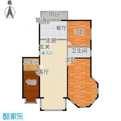 江霆华府105.91㎡项目多层使用面积105.91平米户型3室2厅2卫