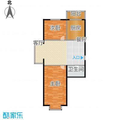 江霆华府76.34㎡项目多层使用面积76.34平米户型2室1厅1卫