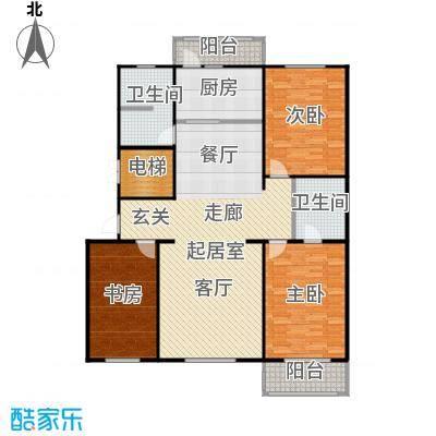 屹立卓郡146.78㎡三室两厅两卫户型3室2厅2卫