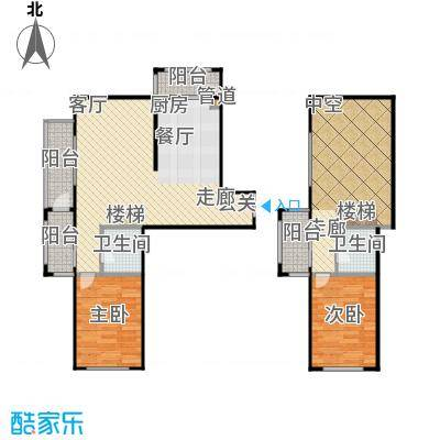 江霆华府94.27㎡项目复式使用面积94.27户型图户型2室2厅2卫