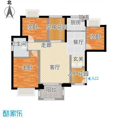 华融琴海湾115.00㎡B1高层户型3室2厅1卫