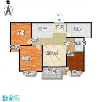 尚东国际户型3室1卫1厨