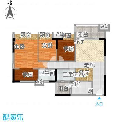 佳境康城107.00㎡5―7栋01、02户型3室2厅2卫