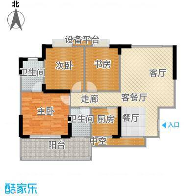 阳光花园92.00㎡A1户型 5号楼户型3室2厅1卫