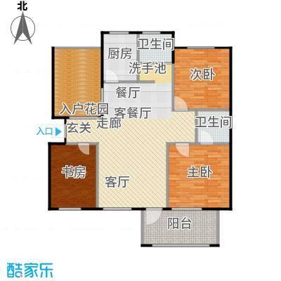 绿地华庭户型3室1厅2卫1厨