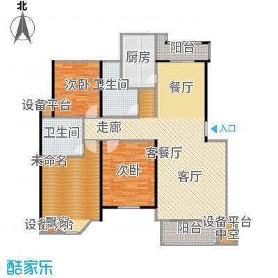 绿地华庭户型2室1厅2卫1厨