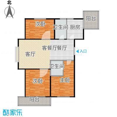 梅江馨城123.79㎡3室2厅2卫户型