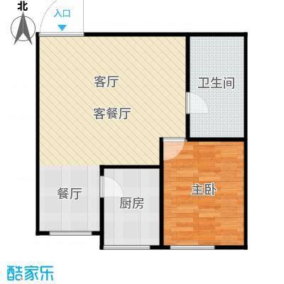 梅江馨城60平米 一室户型