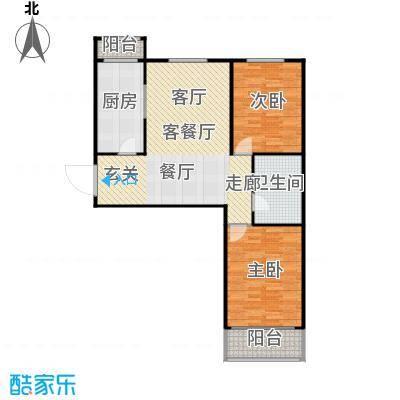 梅江馨城90平米 两室户型