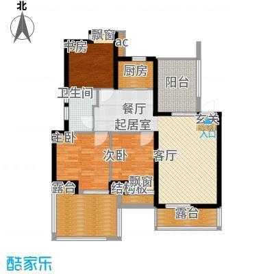 鑫都・阳光丽景102.00㎡3室2厅1卫户型