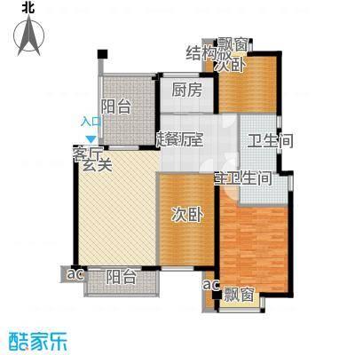 鑫都・阳光丽景125.00㎡3室2厅2卫户型