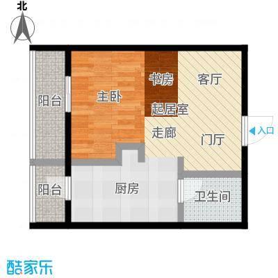 莫比国际59.68㎡G10户型1室1厅1卫