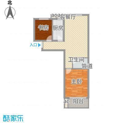 碧水园89.00㎡两室两厅一厨一卫户型2室2厅2卫