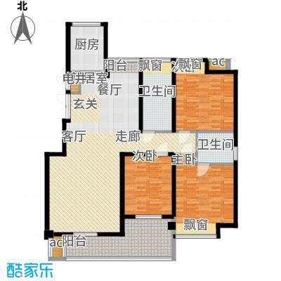 鑫都・阳光丽景140.00㎡3室2厅2卫户型