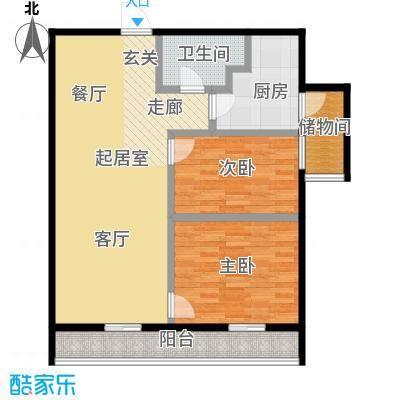 莫比国际114.06㎡G7户型2室1厅1卫