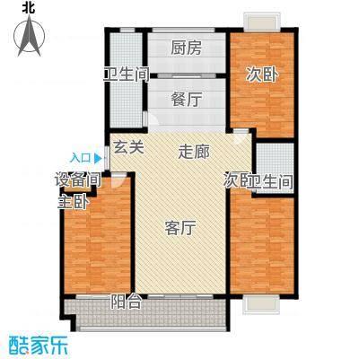 东城新华风景172.00㎡二期7# 户型 三室两厅两卫户型3室2厅2卫