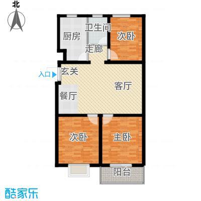 海东盛景33号楼 D户型 三室两厅一卫 100㎡户型3室2厅1卫