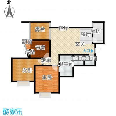 新界长安122.01㎡F户型三室两厅两卫 赠9.2平花园 4.6平客厅开间 动静分区户型