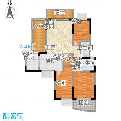 东岸御花园御天阁03型:3房2厅2卫户型