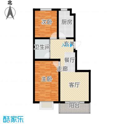 海东盛景33号楼 C户型 两室两厅一卫 87㎡户型2室2厅1卫