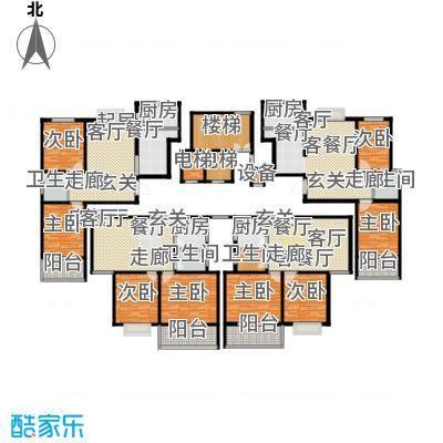 祥瑞家园88.00㎡两室两厅一卫户型2室2厅1卫