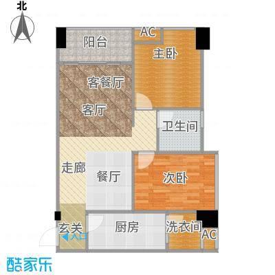 AIP中航・国际交流中心81.08㎡B1、B6户型两室两厅一卫户型2室2厅1卫