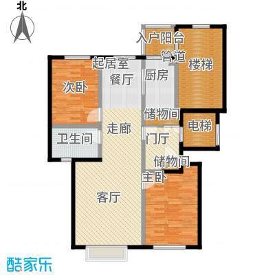 世茂威廉公馆101.00㎡两室两厅 建筑面积 101平户型