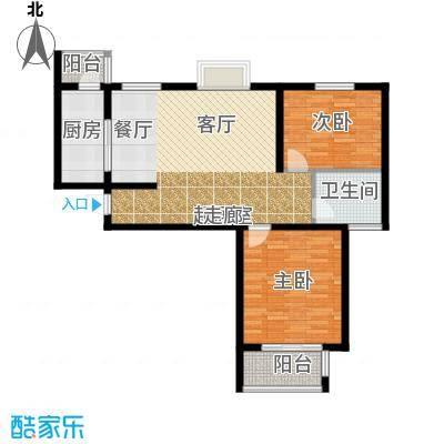 融基・书香苑89.00㎡二室二厅一卫93.78平方米户型