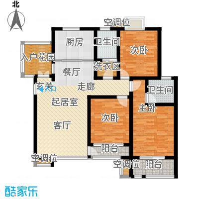 英伦花园134.00㎡高层4户型3室2厅2卫户型3室2厅2卫