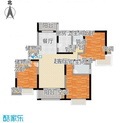 天际蓝桥140.98㎡16号01室户型 3室2厅2卫户型