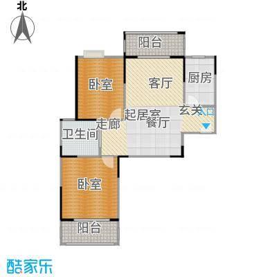 美生中央广场92.00㎡美生中央广场1号楼2号楼B户型92平米2室2厅1卫户型2室2厅1卫