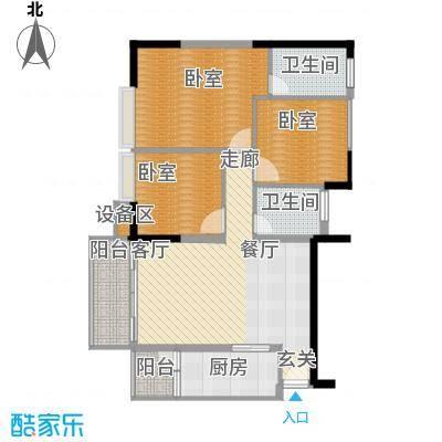 岭南雅苑105.60㎡1号楼2单位01户型3室2厅2卫1厨户型3室2厅2卫