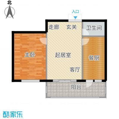 北岸七英里76.30㎡E座 一室一厅一卫 建筑面积76.30平米户型1室1厅1卫