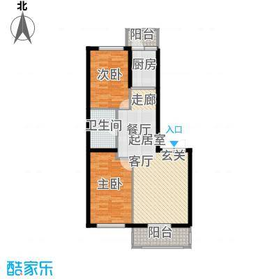 北岸七英里73.90㎡二居一厅使用面积73.90平方米户型2室1厅1卫