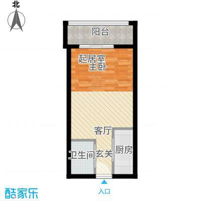 明发商业广场40.23㎡B1户型