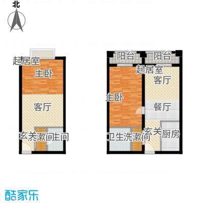 明发商业广场44.00㎡A1户型