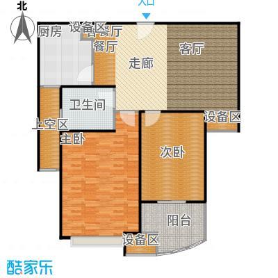 均泰丽轩2室2厅1卫 123.27㎡ 2室2厅1卫1厨123.27㎡户型