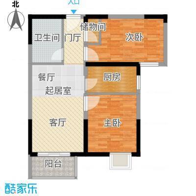 野风・现代景苑72.63㎡4#5#3-27层02户型10室