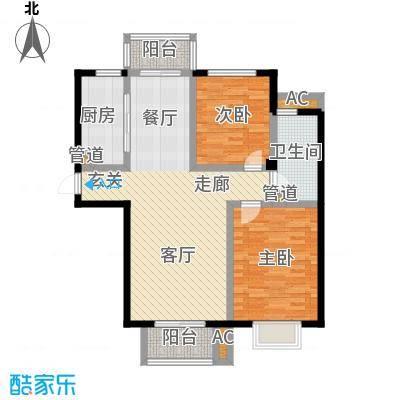 金厦水语花城90.24㎡二房二厅一卫-93.51平米-54套户型