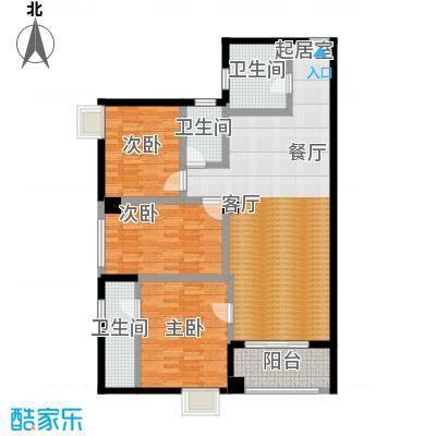 曲江瑞源金谷城140.39㎡三房户型