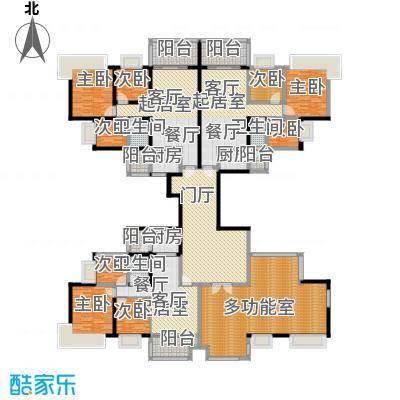 中澳丽珠花园318.75㎡户型9室3卫3厨