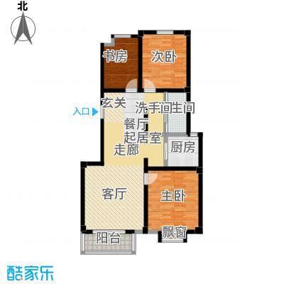翡翠城B2户型3室1卫1厨