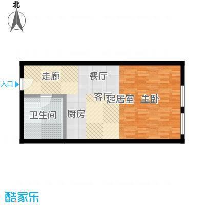 润德汇61.20㎡润德汇H1/H2户型1室1厅61.2平户型1室1厅1卫